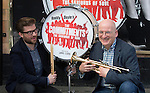 The Commitments - musical launch..Roddy Doyle right with the director Jamie Lloyd left -..outside the Palace Theatre in Cambridge Circus today.....Pic by Gavin Rodgers/Pixel 8000 Ltd