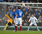 Lee Wallace is sent off for this challenge on Jack Steele in the box
