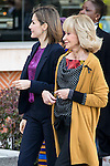 Queen Letizia of Spain and Maria Teresa Fernandez de la Vega attends the annual meeting of the Board of the Foundation for African women in Madrid, November 16, 2015.<br /> (ALTERPHOTOS/BorjaB.Hojas)