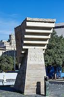 Catalunya a Francesc Macià memorial sculpture, Barcelona, Spain