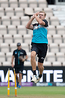 Kyle Jamieson, New Zealand during a training session ahead of the ICC World Test Championship Final at the Hampshire  Bowl on 17th June 2021