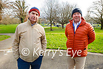 Enjoying a stroll in Tralee town park on Tuesday, l to r: Malachy Nagle and Aidan Lucid