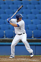 Dunedin Blue Jays third baseman Kevin Ahrens #15 during a game against the Tampa Yankees at Dunedin Stadium on April 28, 2012 in Dunedin, Florida.  Dunedin defeated the Yankees 6-1.  (Mike Janes/Four Seam Images)