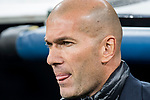 Manager Zinedine Zidane of Real Madrid prior to the UEFA Champions League 2017-18 Round of 16 (1st leg) match between Real Madrid vs Paris Saint Germain at Estadio Santiago Bernabeu on February 14 2018 in Madrid, Spain. Photo by Diego Souto / Power Sport Images