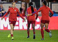 San Jose, CA - Sunday November 12, 2017: Kelley O'Haran during an International friendly match between the Women's National teams of the United States (USA) and Canada (CAN) at Avaya Stadium.