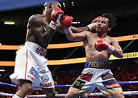 LAS VEGAS, NV - AUG 21: Manny Pacquiao vs Yordenis Ugas on the Fox Sports PBC pay-per-view fight night at the T-Mobile Arena on August 21, 2021 in Las Vegas, Nevada (Photo by Scott Kirkland/Fox Sports/PictureGroup)