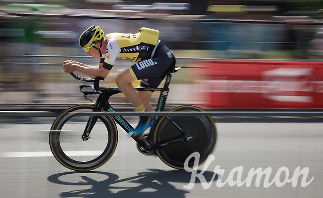 Sep Vanmarcke (BEL/LottoNL-Jumbo) during recon of the stage 1 prologue in Utrecht (13.8km)<br /> <br /> Tour de France 2015