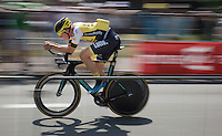 Sep Vanmarcke (BEL/LottoNL-Jumbo) during recon of the stage 1 prologue in Utrecht (13.8km)<br /> <br /> Tour de France 2015