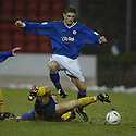 20/12/03          Copyright Pic : James Stewart.File Name : stewart01-stjohn_v_qos.DAVID BAGEN CHALLENGES ROSS FORSYTH..... .Payment should be made to :-.James Stewart Photo Agency, 19 Carronlea Drive, Falkirk. FK2 8DN      Vat Reg No. 607 6932 25.Office     : +44 (0)1324 570906     .Mobile  : +44 (0)7721 416997.Fax         :  +44 (0)1324 570906.E-mail  :  jim@jspa.co.uk.If you require further information then contact Jim Stewart on any of the numbers above.........