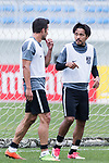 Urawa Reds Forward Zlatan Ljubijankic (L) talks to Urawa Reds Forward Kohrogi Shinzoh (R) during the training session prior to the AFC Champions League 2017 Round of 16 match between Jeju United FC (KOR) and Urawa Red Diamonds (JPN) at the Jeju Sports Complex on 23 May 2017 in Jeju, South Korea. Photo by Yu Chun Christopher Wong / Power Sport Images