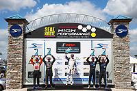 LMP3 Podium, #43 Robillard Racing Norma M30, LMP3: Stevan McAleer, #47 Forty 7 Motorsports Norma M30, LMP3: Austin McCusker, Rodrigo Pflucker, #26 K2R Motorsports Ligier JS P3, LMP3: James McGuire Jr