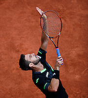 France, Paris , May 27, 2015, Tennis, Roland Garros, Marcel Granollers (ESP)<br /> Photo: Tennisimages/Henk Koster