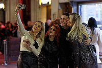 Pictured: Revellers take a selfie in Swansea. Tuesday 31 December 2019 to Wednesday 01 January 2020<br /> Re: Revellers on a night out for New Year's Eve in Wind Street, Swansea, Wales, UK.