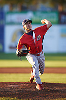 Williamsport Crosscutters starting pitcher JoJo Romero (2) during a game against the Batavia Muckdogs on September 1, 2016 at Dwyer Stadium in Batavia, New York.  Williamsport defeated Batavia 10-3. (Mike Janes/Four Seam Images)