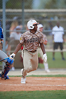 Thaddeus Ector (4) during the WWBA World Championship at Lee County Player Development Complex on October 11, 2020 in Fort Myers, Florida.  Thaddeus Ector, a resident of Tyrone, Georgia who attends Starrs Mill High School, is committed to South Carolina.  (Mike Janes/Four Seam Images)