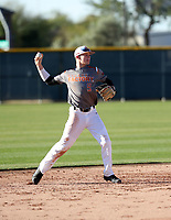 Bobby Witt Jr takes part in the 2018 Under Armour Pre-Season All-America Tournament at the Chicago Cubs training complex on January 13-14, 2018 in Mesa, Arizona (Bill Mitchell)