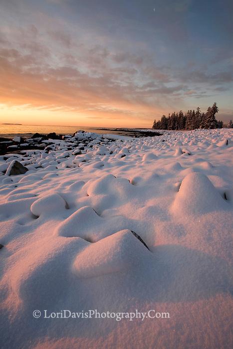 """Winter's Dawn"" - The Seawall  #A27"
