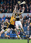 Oisin O Brien of Clonlara in action against Tony Kelly of Ballyea during their senior county final replay at Cusack Park. Photograph by John Kelly.