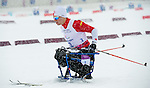 Sochi, RUSSIA - Mar 12 2014 -  Sébastien Fortier competes in the Men's 1km Sprint Qualification at the 2014 Paralympic Winter Games in Sochi, Russia.  (Photo: Matthew Murnaghan/Canadian Paralympic Committee)