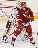 Brian Billett (BC - 1), Tyler Barnes (Wisconsin - 7) - The Boston College Eagles defeated the visiting University of Wisconsin Badgers 9-2 on Friday, October 18, 2013, at Kelley Rink in Conte Forum in Chestnut Hill, Massachusetts.