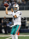 Miami Dolphins quarterback Matt Moore (8) in action during the Thanksgiving Day game between the Miami Dolphins and the Dallas Cowboys at the Cowboys Stadium in Arlington, Texas. Dallas defeats Miami 20 to 19...