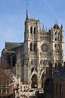 Europe/France/Picardie/80/Somme/Amiens: Cathédrale Notre-Dame d'Amiens - La cathédrale est inscrite depuis 1981 au patrimoine mondial de l'UNESCO