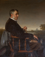 Co-builder of the house, John Dalrymple, tenth Earl of Stair, in a portrait by Rudolf Lehmann