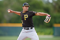 Pittsburgh Pirates pitcher Dario Agrazal (75) during a Minor League Spring Training Intrasquad game on March 31, 2018 at Pirate City in Bradenton, Florida.  (Mike Janes/Four Seam Images)