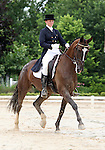 10 July 2009: Rebecca Howard riding Roquefort during the dressage phase of the CIC 2* Maui Jim Horse Trials at Lamplight Equestrian Center in Wayne, Illinois.