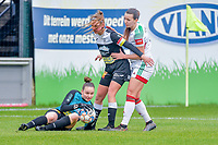 Goalkeeper Silke Baccarne (1) of Eendracht Aalst pictured during a female soccer game between Eendracht Aalst and OHL on the 13 th matchday of the 2020 - 2021 season of Belgian Scooore Womens Super League , Saturday 6 th of February 2021  in Aalst , Belgium . PHOTO SPORTPIX.BE | SPP | STIJN AUDOOREN