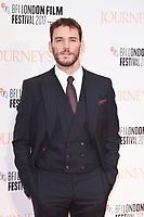 "Sam Claflin<br /> arriving for the London Film Festival 2017 screening of ""Journey's End"" at the Odeon Leicester Square, London<br /> <br /> <br /> ©Ash Knotek  D3320  06/10/2017"