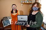 Molly Brosnan puts the finishing touches to the virtual Photography Exhibition, a collaboration between students from Kerry College Tralee and the Community College in Listowel  called 21 And Us. Front right: Molly Brosnan with Nell Maura Ryan.