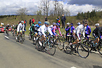 The peloton including Nicolas Roche (IRL) AG2R La Mondiale climb Cote de la Roche-en-Ardenne during the 98th edition of Liege-Bastogne-Liege, running 257.5km from Liege to Ans, Belgium. 22nd April 2012.  <br /> (Photo by Eoin Clarke/NEWSFILE).