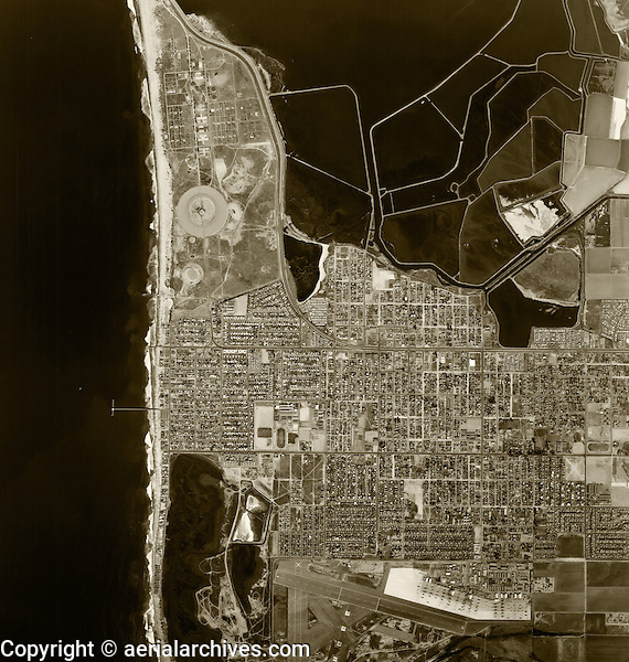 historical aerial photograph Imperial Beach, San Diego county, California, 1966