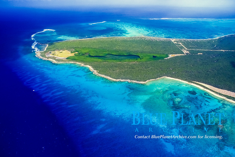 aerial view of Northwest Point, Providenciales, Turks and Caicos
