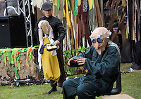 Pictured: A performance by puppet soup Saturday 13 August 2016<br />