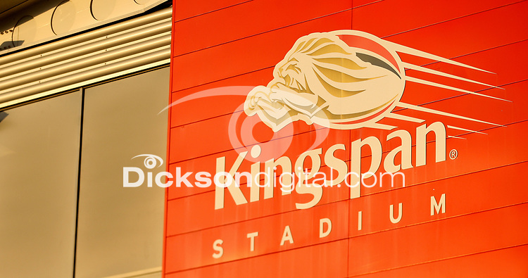 19th March 2021;   Stadium branding during the final round of the Guinness PRO14 against Zebre Rugby held at Kingspan Stadium, Ravenhill Park, Belfast, Northern Ireland. Photo by John Dickson/Dicksondigital