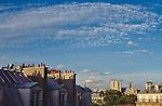 Paris, France, Left Bank, 6th Arrondissement, Europe, Rooftop view of Notre Dame, the Cluny, garrets, Boulevard Saint Michel, .