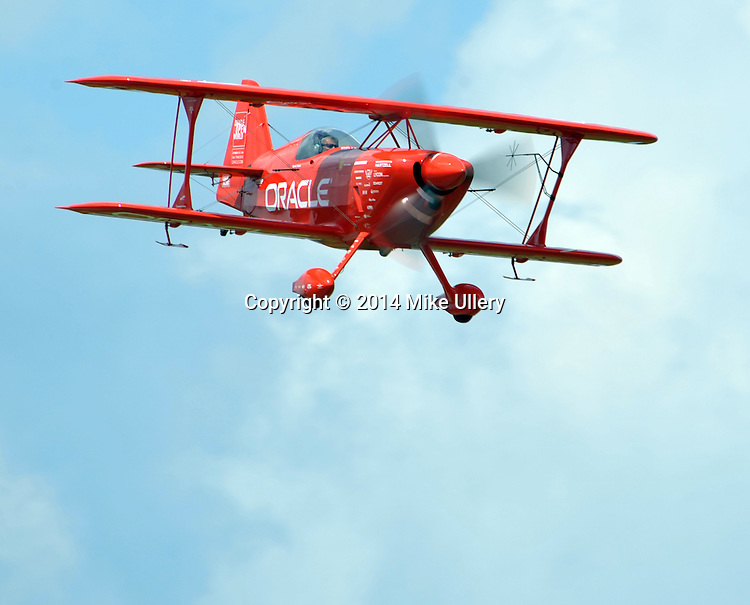 Sean Tucker was at the Hartzell-Piqua Airport on July 22, 2014 honing his routine as he prepares for AirVenture 2014 at Oshkosh.