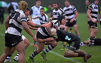 Action from the Under-19 rugby match between Hurricanes Heartland and Hawkes Bay at Massey University in Palmerston North, New Zealand on Saturday, 17 August 2019. Photo: Dave Lintott / lintottphoto.co.nz