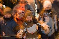 Amérique/Amérique du Nord/Canada/Québec/ Québec: Défilé de nuit  du Carnaval  de Québec pour les  400 ans de la ville de Québec