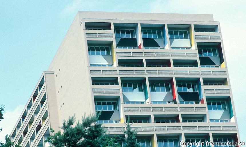 Le Corbusier: Unite D'Habitation, Berlin-Charlottenburg 1956, 1957/58.