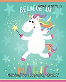 Dreams, CHILDREN, KINDER, NIÑOS, paintings+++++,MEDAKID12/2,#K#, EVERYDAY ,unicorn,unicorns