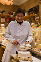 "Europe/France/Ile-de-France/75007/Paris : Marie-Anne Cantin Fromager affineur 12, rue du Champ de Mars  propose à Noêl son fromage"" Truffé de la Marne""  // Europe / France / Ile-de-France / 75007 / Paris: Marie-Anne Cantin Fromager affineur 12, rue du Champ de Mars offers her ""Truffé de la Marne"" cheese for Christmas"