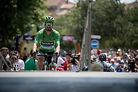 Green Jersey Peter Sagan (SVK/Bora-Hansgrohe) at the race start in front of the Arena in Nîmes<br /> <br /> Stage 16: Nîmes to Nîmes (177km)<br /> 106th Tour de France 2019 (2.UWT)<br /> <br /> ©kramon