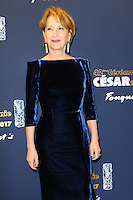 PARIS, FRANCE - FEBRUARY 24: Actress Nathalie Baye attends the Cesar's Dinner at Le Fouquet's on February 24, 2017 in Paris, France.