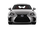 Car photography straight front view of a 2017 Lexus IS F-Sport-Line 4 Door Sedan Front View
