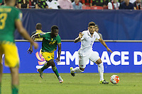 Atlanta, Georgia - Wednesday, July 22, 2015: Jamaica defeats the USMNT 2-1 in Semifinal play in the 2015 Gold Cup at the Georgia Dome.