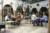 Tunisia.  Tunis Medina.  Cafe Mnushi, a traditional coffee shop in the heart of the medina.