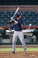 AZL Padres 2 designated hitter Blake Hunt (27) at bat against the AZL Giants on July 13, 2017 at Scottsdale Stadium in Scottsdale, Arizona. AZL Giants defeated the AZL Padres 2 11-3. (Zachary Lucy/Four Seam Images)